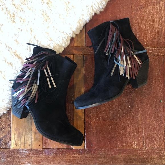 Sam Edelman Shoes - Sam Edelman | Louie Multicolor Fringe Ankle Boots